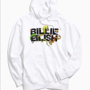 Billie Eilish Logo Hoodie Sweatshirt white concert